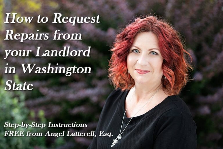 instructions to get home repairs from landlord washington state